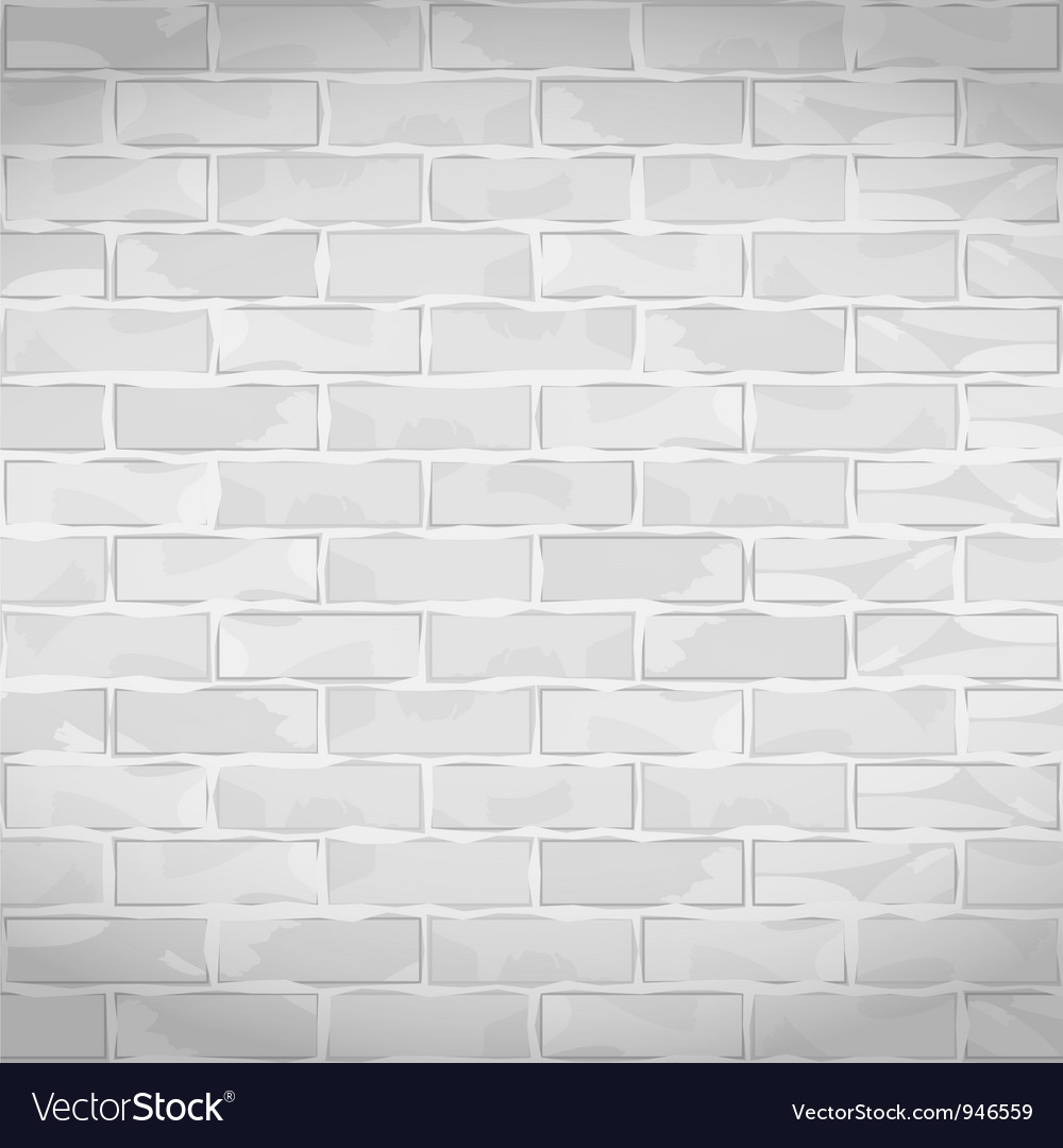 Old white brick wall vector | Price: 1 Credit (USD $1)
