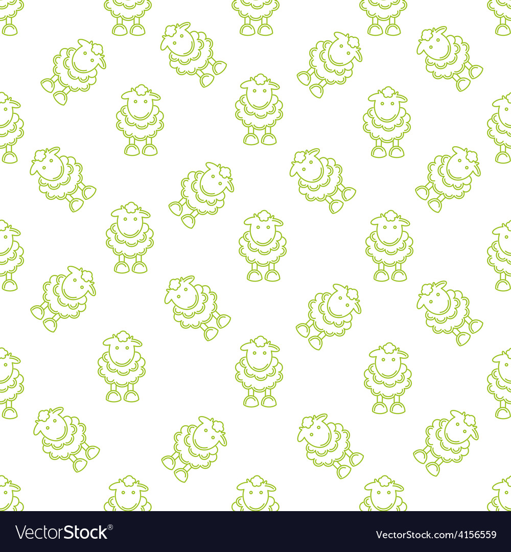 Pattern with lambs vector | Price: 1 Credit (USD $1)