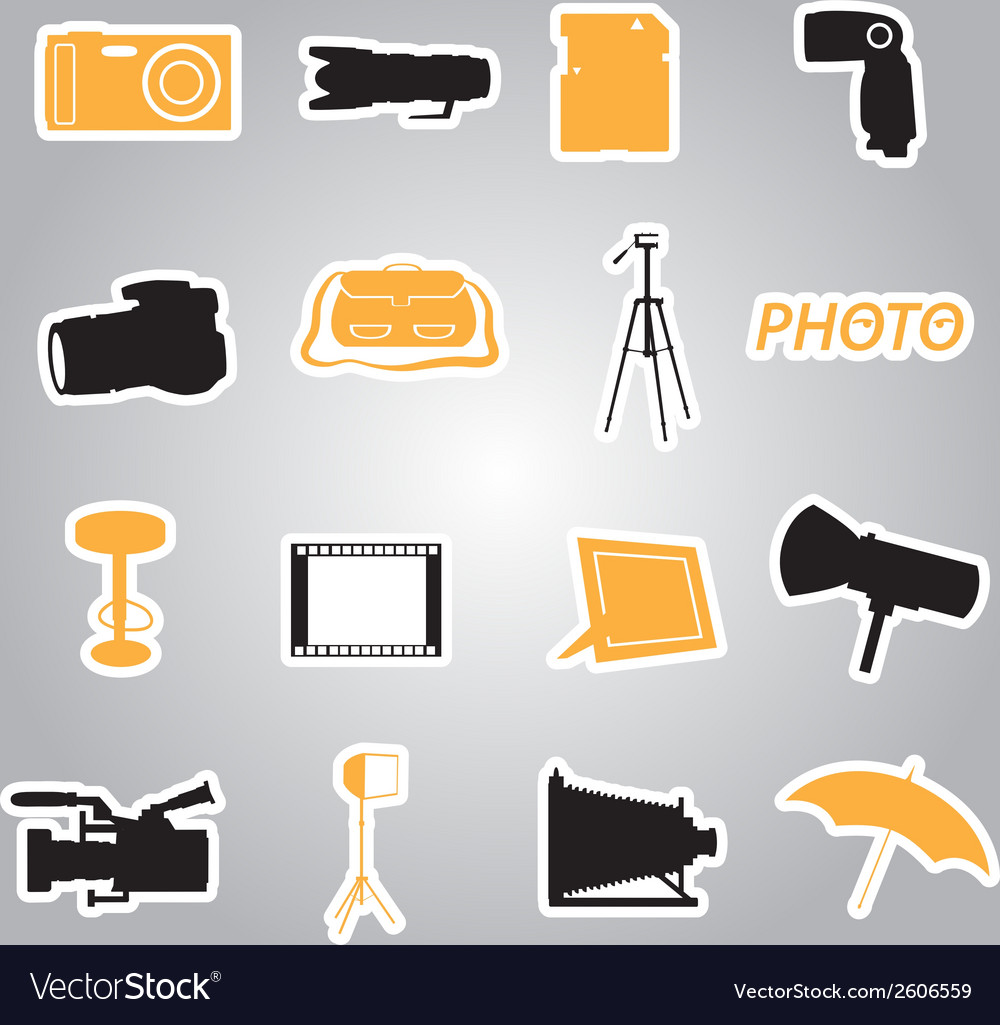 Photographic stickers eps10 vector | Price: 1 Credit (USD $1)
