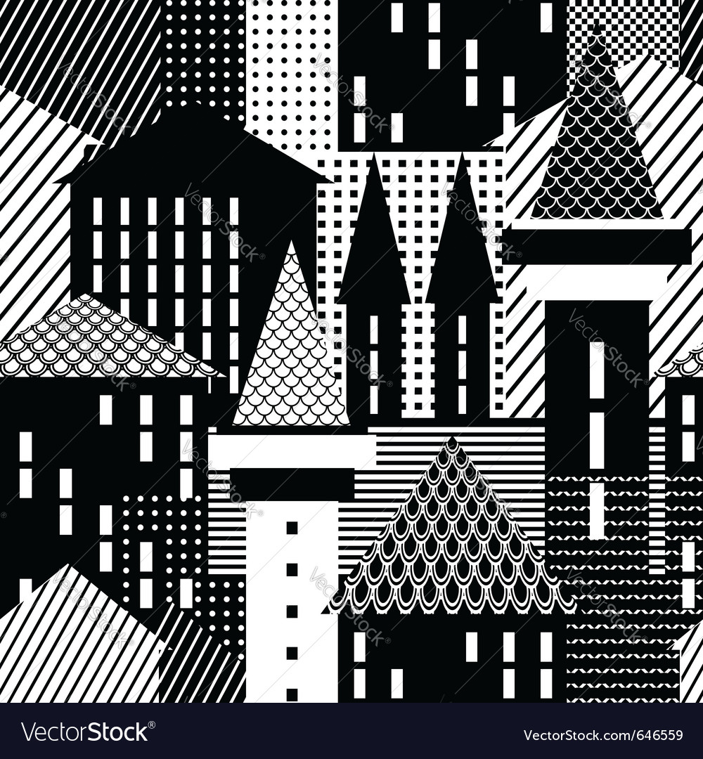 Town seamless pattern vector | Price: 1 Credit (USD $1)