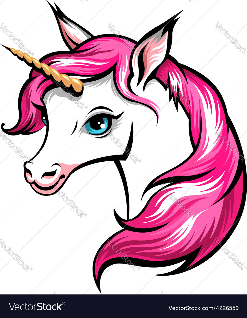 Unicorn pink vector | Price: 1 Credit (USD $1)