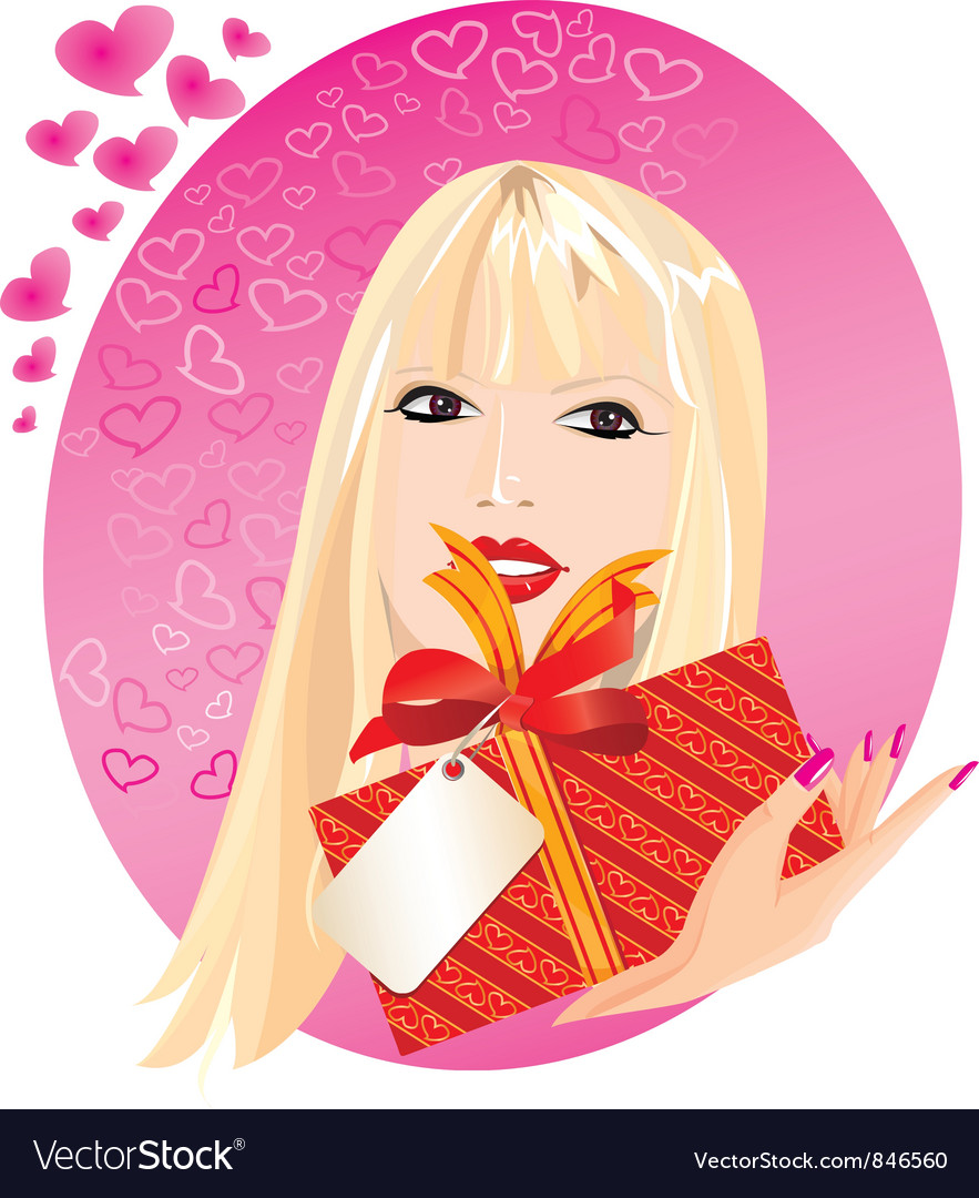 Blond girl portrait vector | Price: 1 Credit (USD $1)