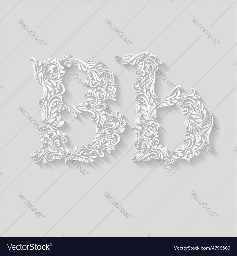 Decorated letter b vector | Price: 1 Credit (USD $1)
