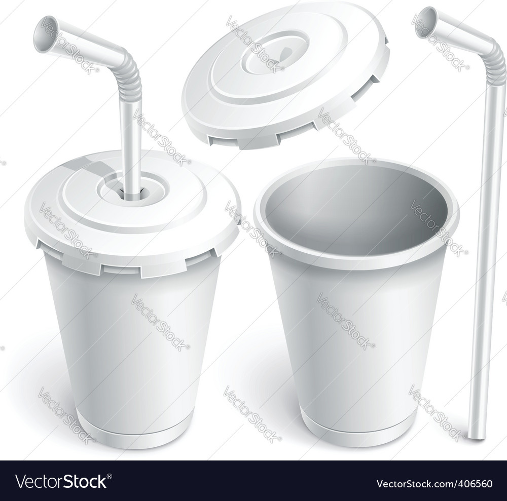 Fast food white cup vector | Price: 3 Credit (USD $3)