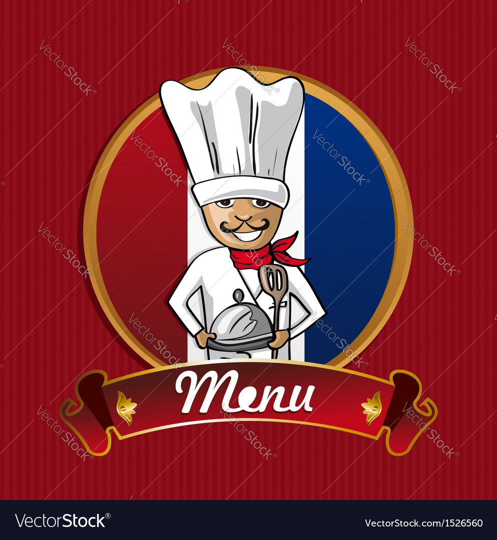 Food from france menu poster vector | Price: 1 Credit (USD $1)