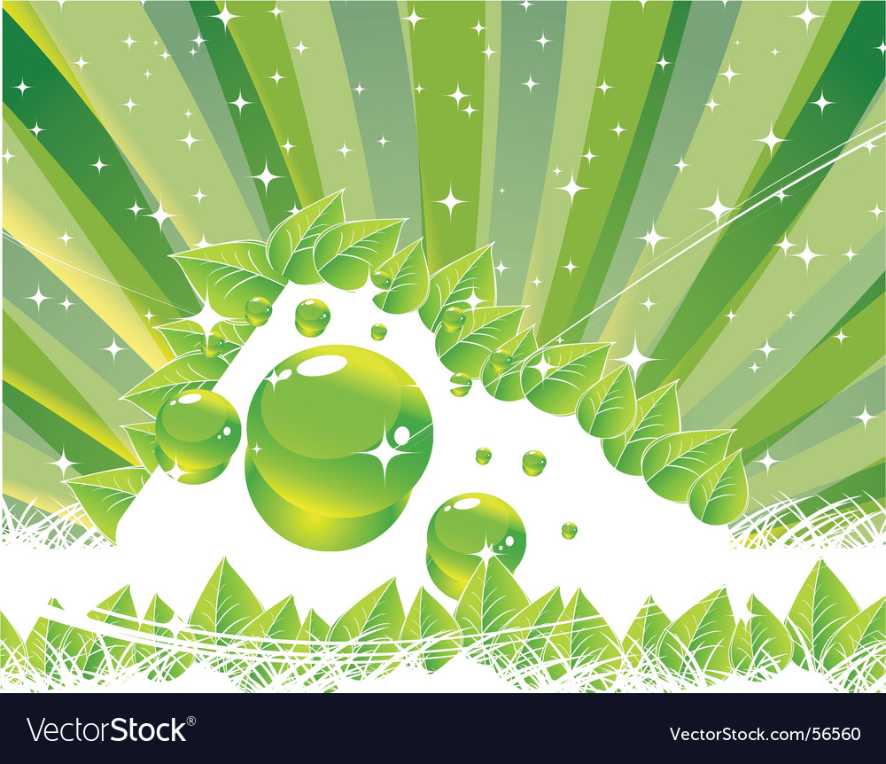 Green shine vector | Price: 1 Credit (USD $1)