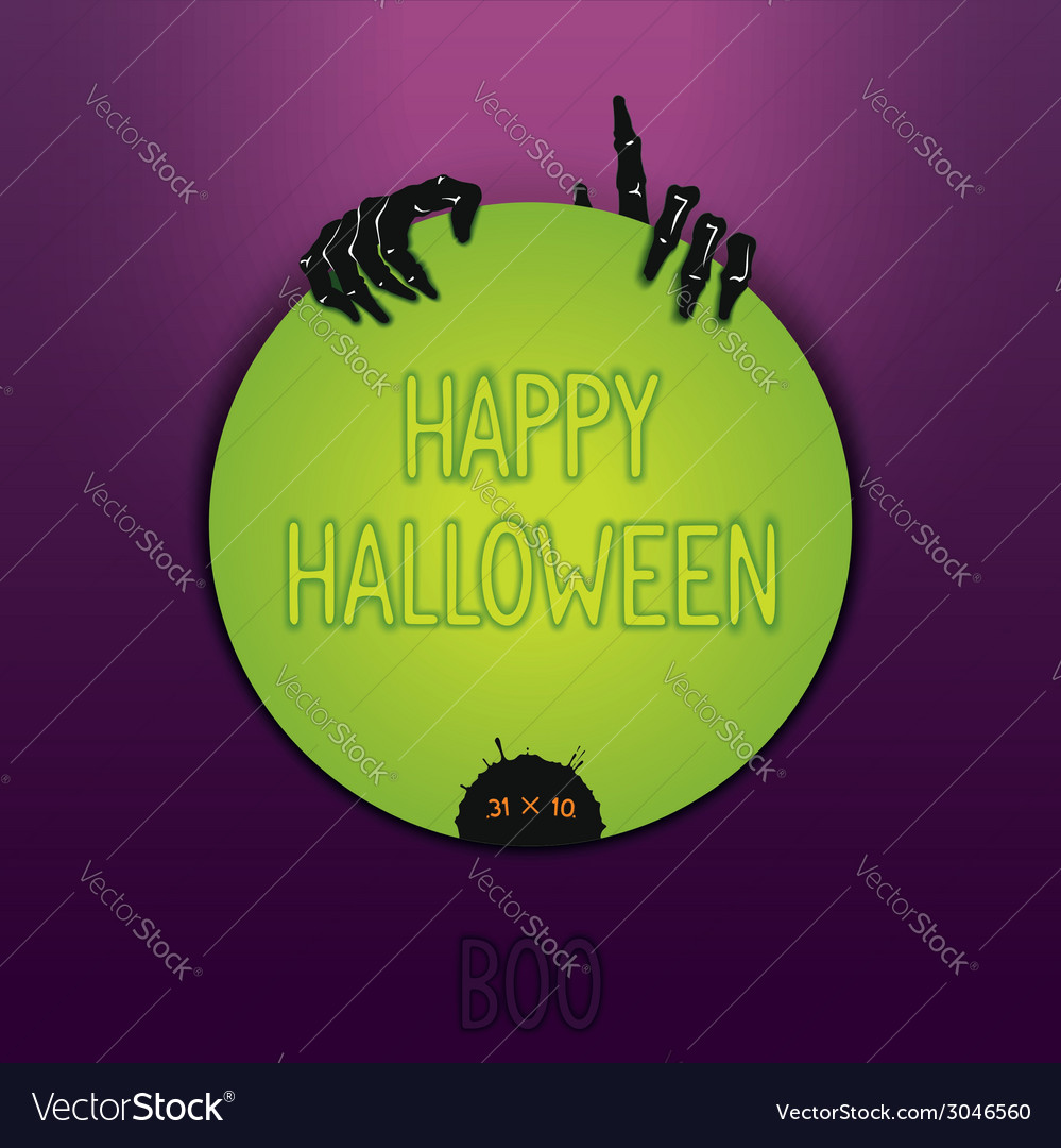 Halloween label design vector | Price: 1 Credit (USD $1)