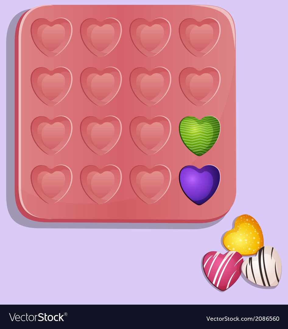 Heart shaped candy molds vector | Price: 1 Credit (USD $1)