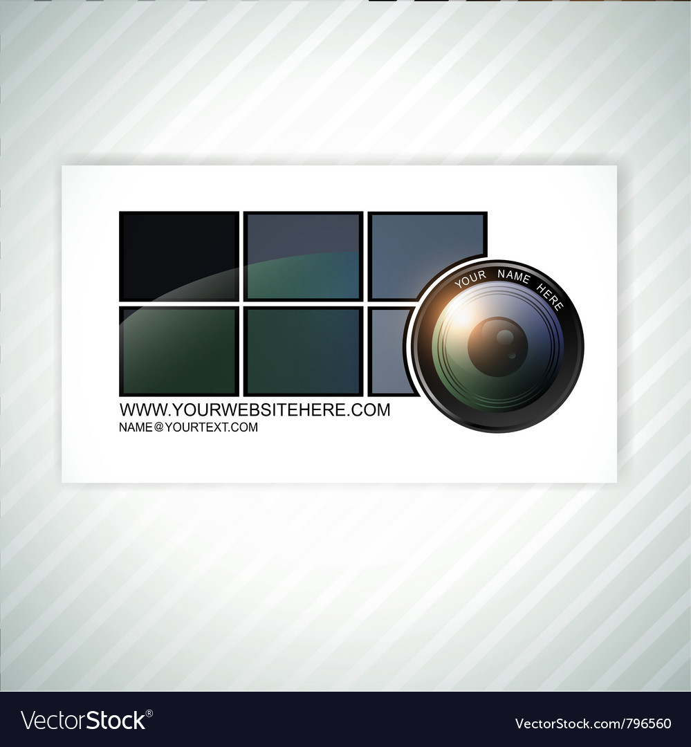 Photographer business card template vector | Price: 3 Credit (USD $3)