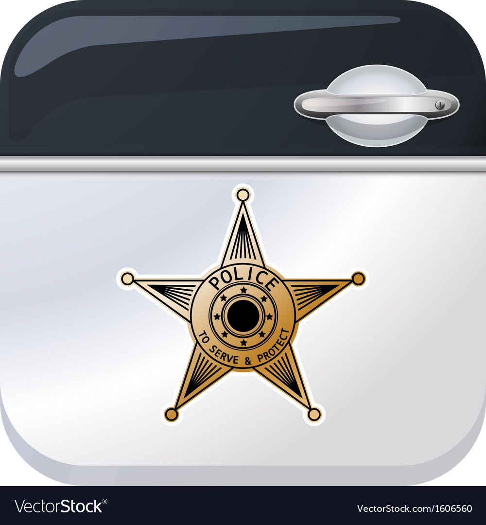 Police car door app icon vector | Price: 1 Credit (USD $1)