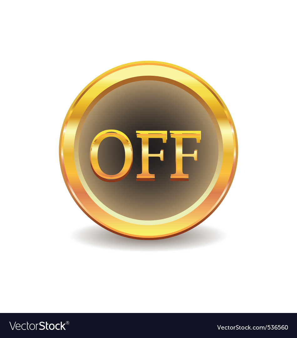 Turn off button vector   Price: 1 Credit (USD $1)