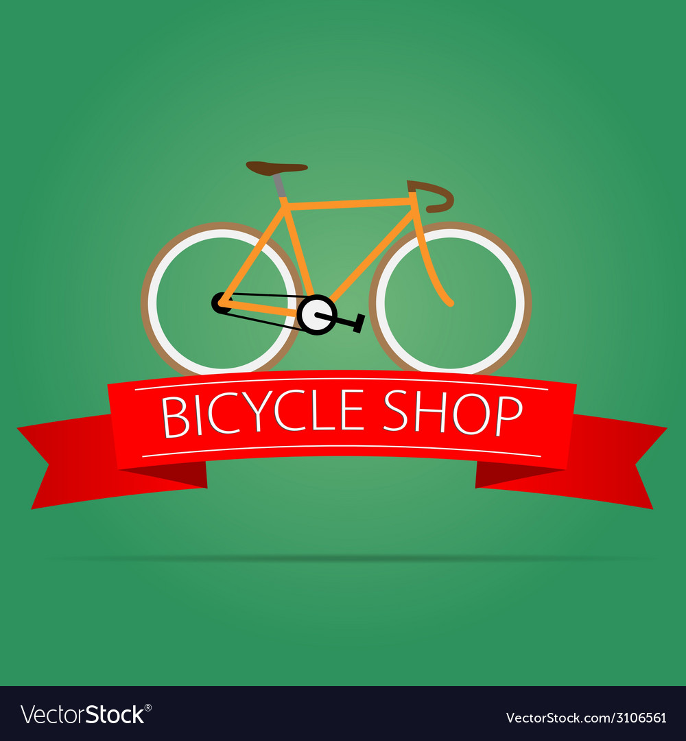 Bike shop icon vector | Price: 1 Credit (USD $1)