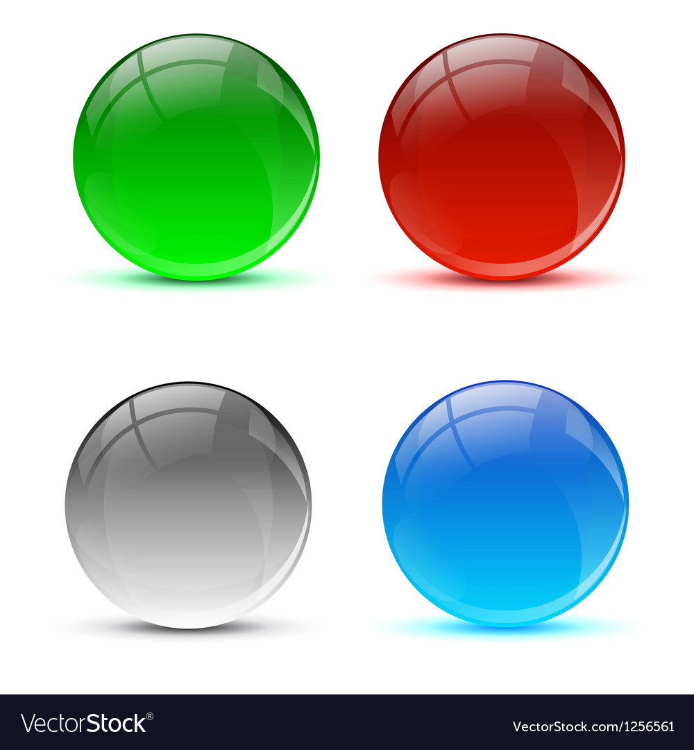 Bright colorful icon balls vector | Price: 1 Credit (USD $1)