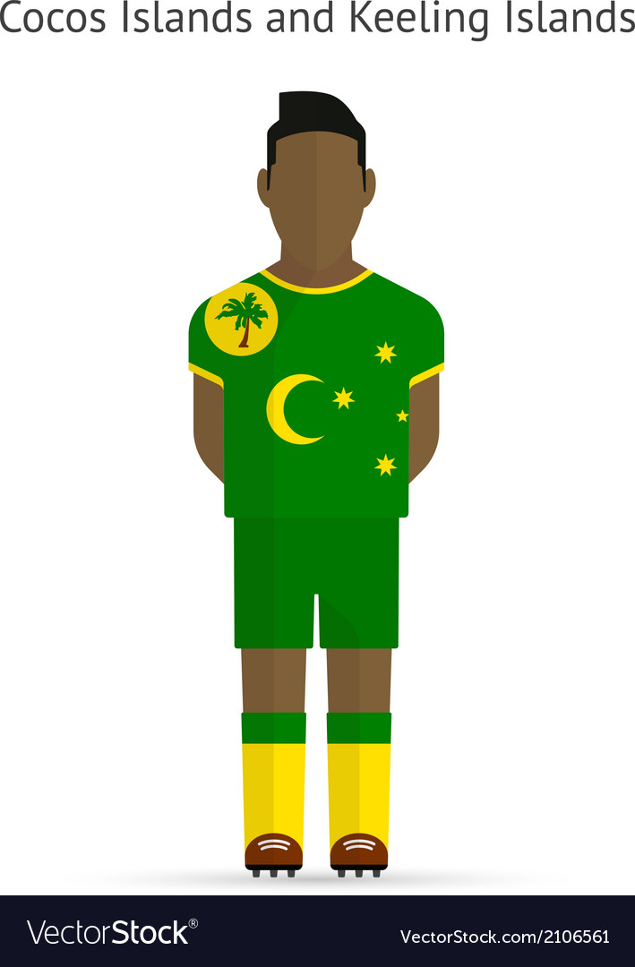 Cocos and keeling islands football player soccer vector | Price: 1 Credit (USD $1)