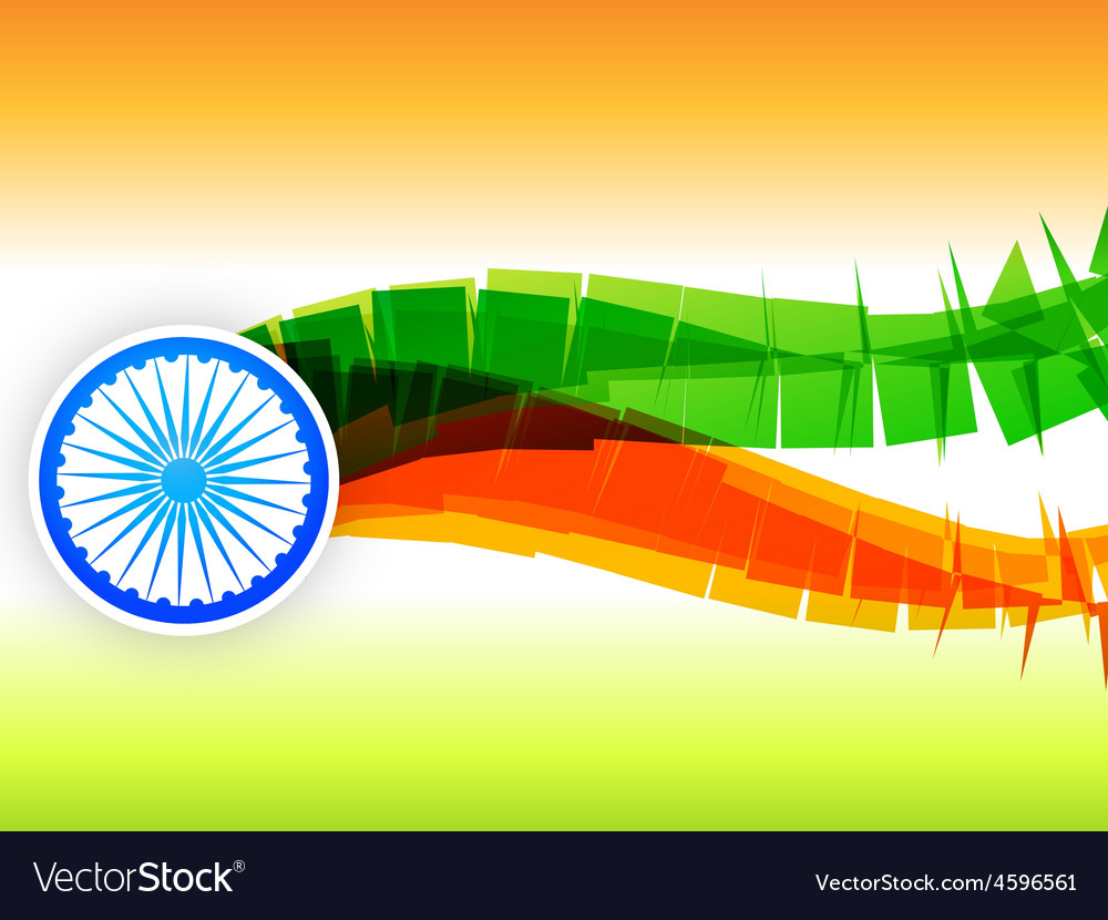 Creative indian flag design made in wave style vector | Price: 1 Credit (USD $1)