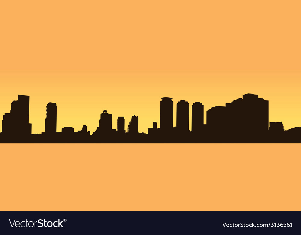 Dark contour bangkok on a yellow background vector | Price: 1 Credit (USD $1)