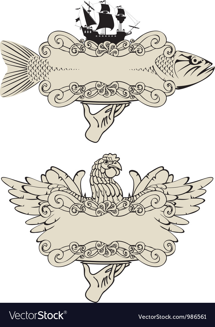 Fish and poultry vector | Price: 1 Credit (USD $1)