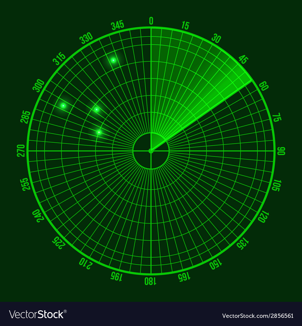 Green radar screen vector