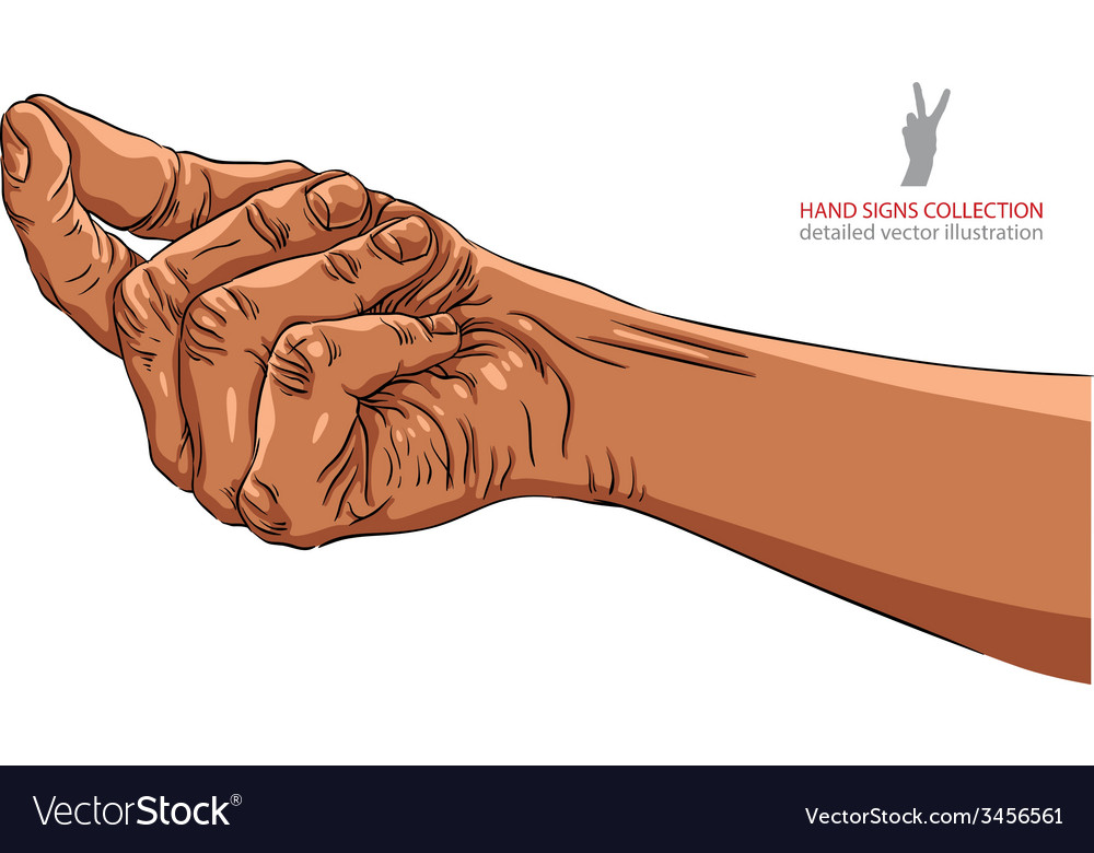 Hand asking about payment african ethnicity vector | Price: 1 Credit (USD $1)