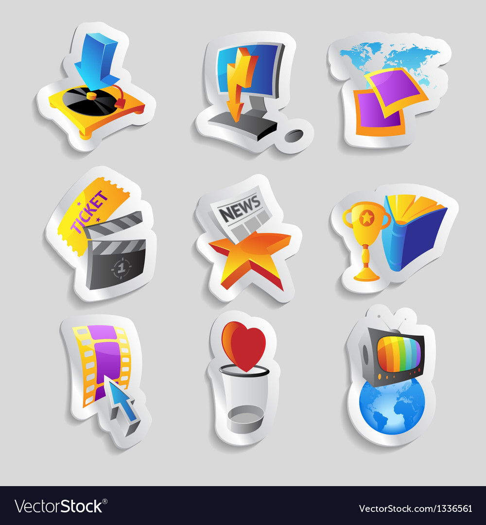 Icons for media vector | Price: 1 Credit (USD $1)