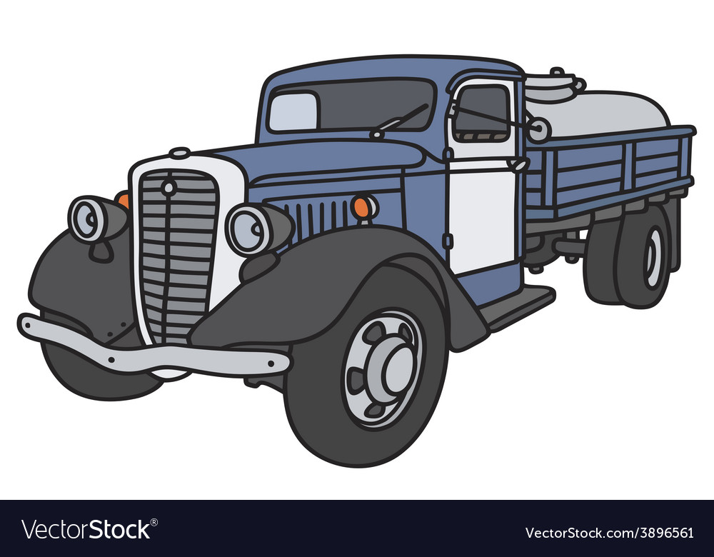 Old dairy tank truck vector | Price: 1 Credit (USD $1)