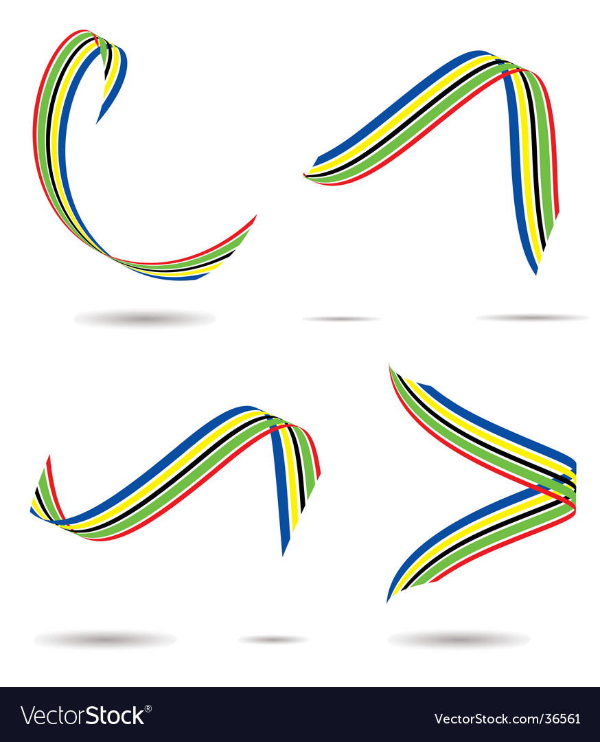 Olympic ribbon vector | Price: 1 Credit (USD $1)