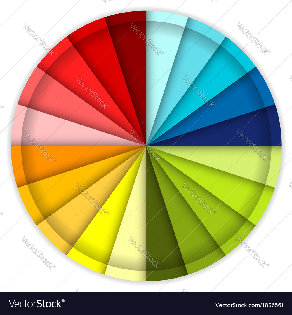 Palette of color wheel for your design vector | Price: 1 Credit (USD $1)