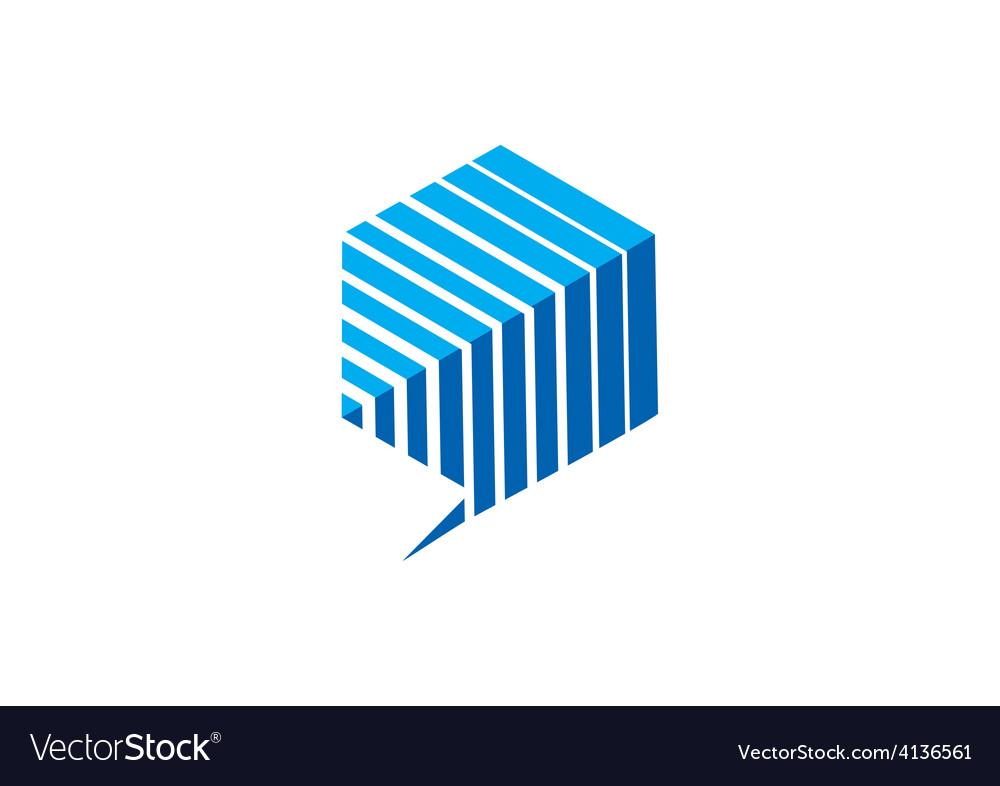 Polygon talk geometry communication logo vector   Price: 1 Credit (USD $1)