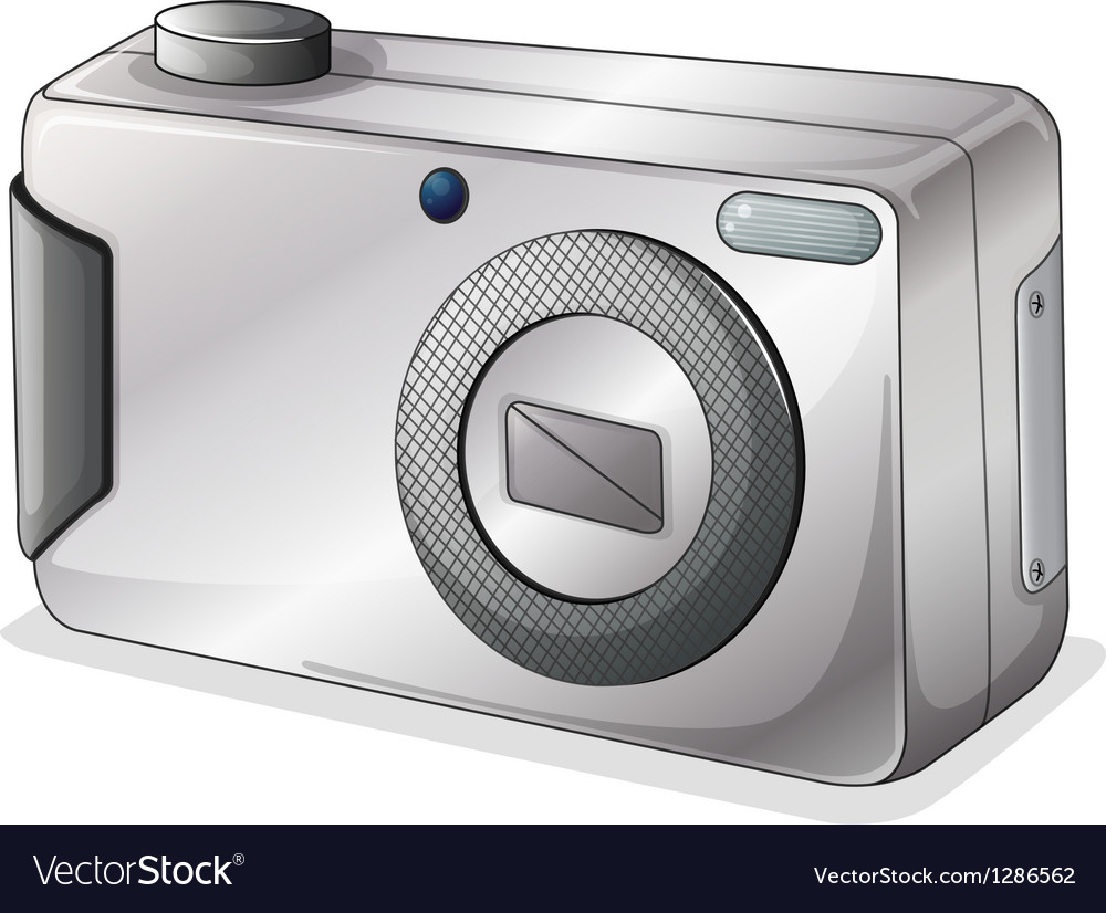 A gray camera vector | Price: 1 Credit (USD $1)