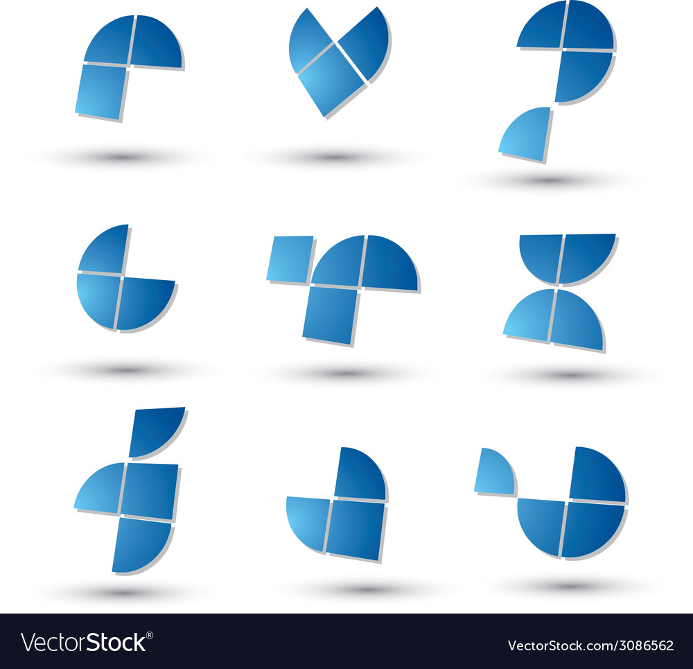 Abstract 3d geometric simple symbols set abstract vector   Price: 1 Credit (USD $1)