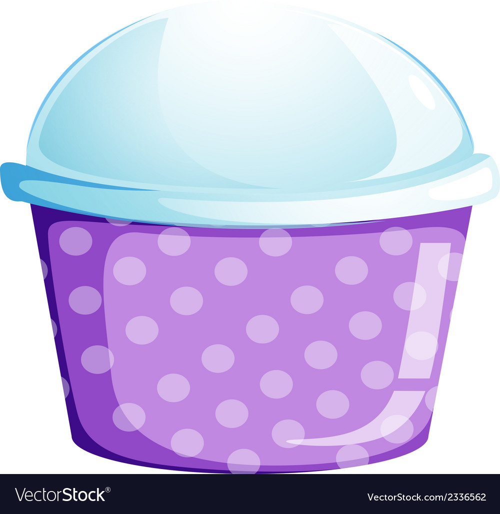An empty disposable cupcake container vector | Price: 1 Credit (USD $1)