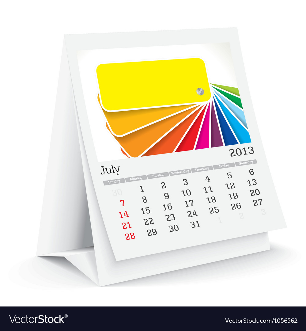 Calendar pamphlet vector | Price: 1 Credit (USD $1)
