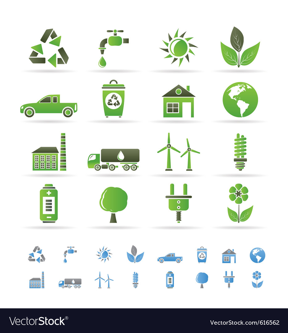 Ecology and environment icons vector | Price: 1 Credit (USD $1)