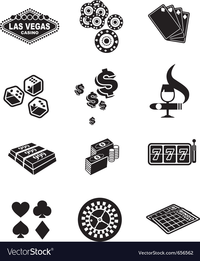 Gamble icons set vector | Price: 1 Credit (USD $1)