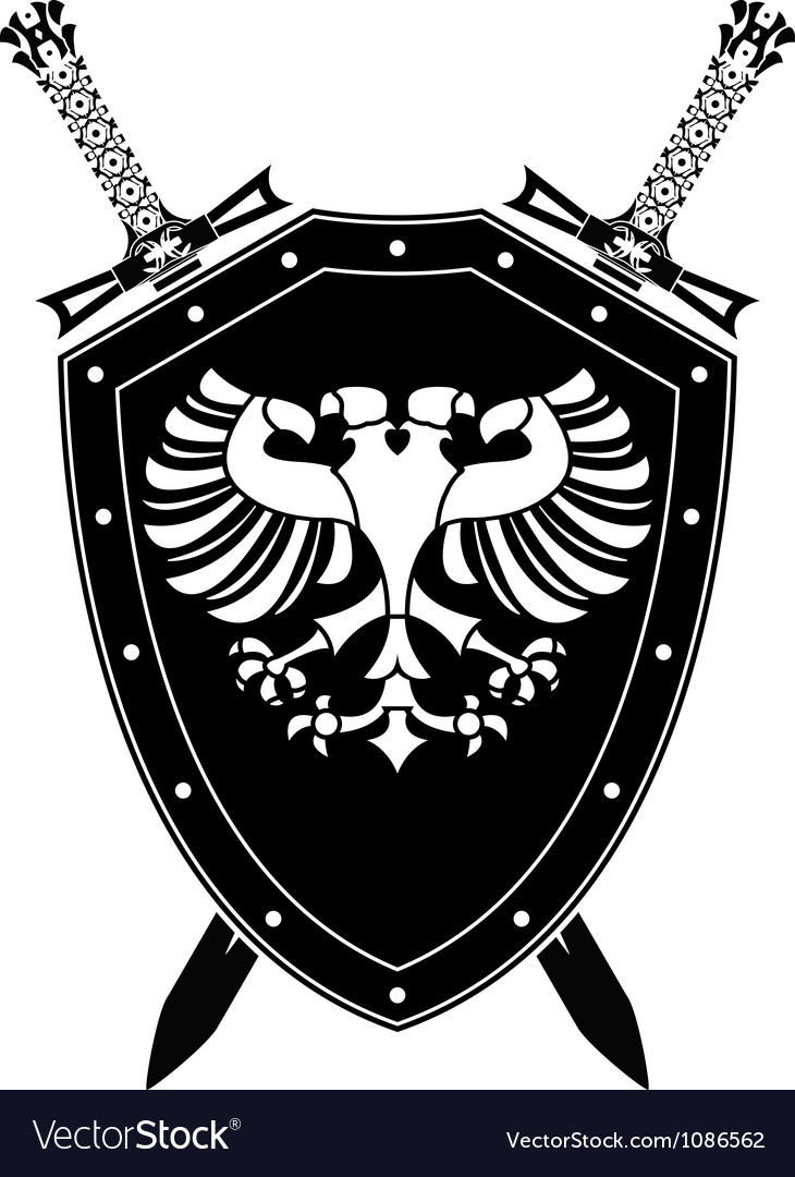 Heraldic eagle and swords vector | Price: 1 Credit (USD $1)