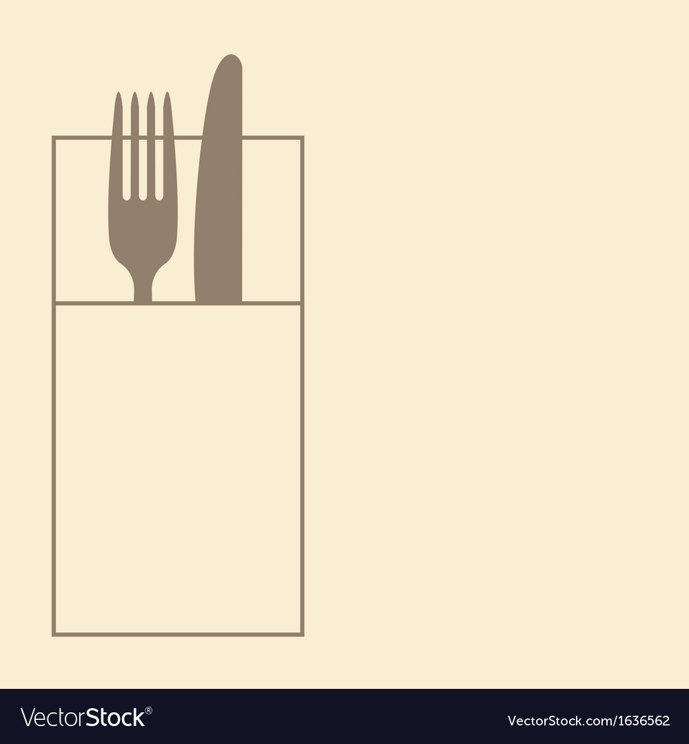 Knife fork and napkin vector | Price: 1 Credit (USD $1)