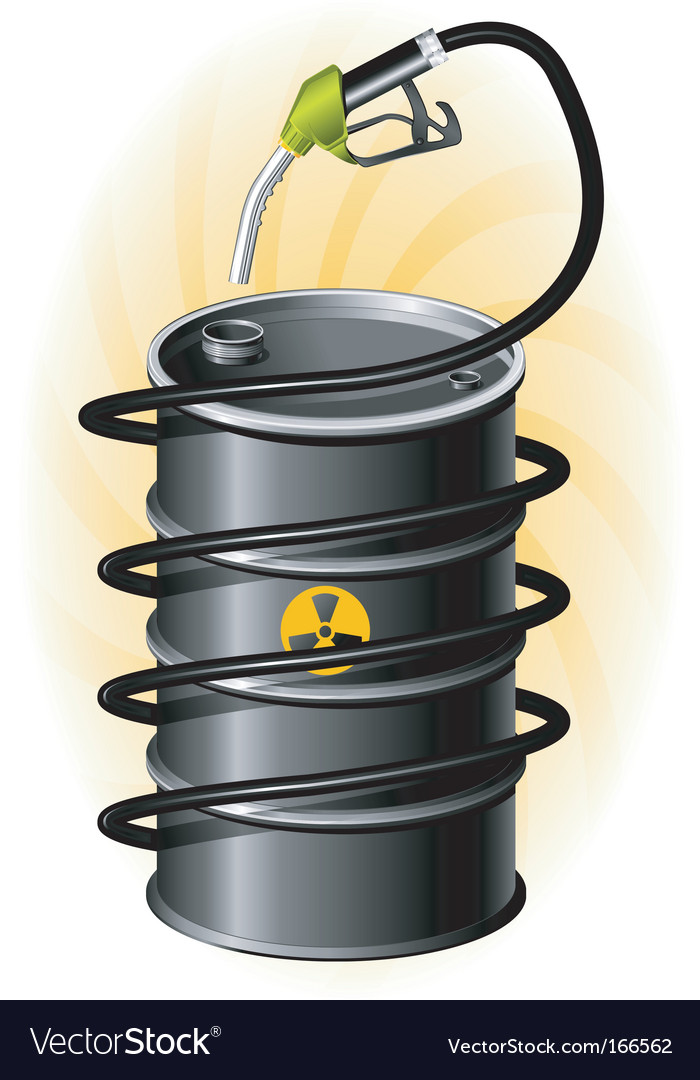 Oil drum and fuel pump vector | Price: 1 Credit (USD $1)