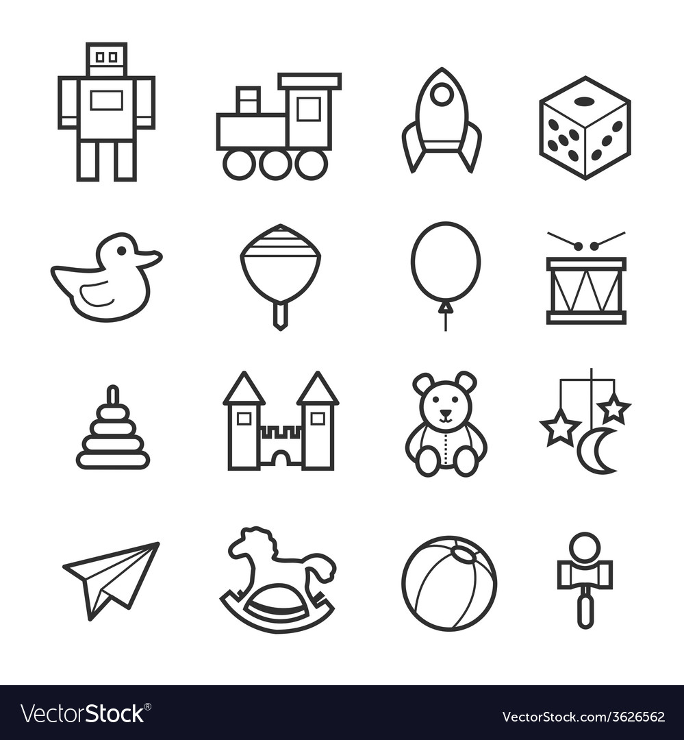 Toys icon collection vector | Price: 1 Credit (USD $1)