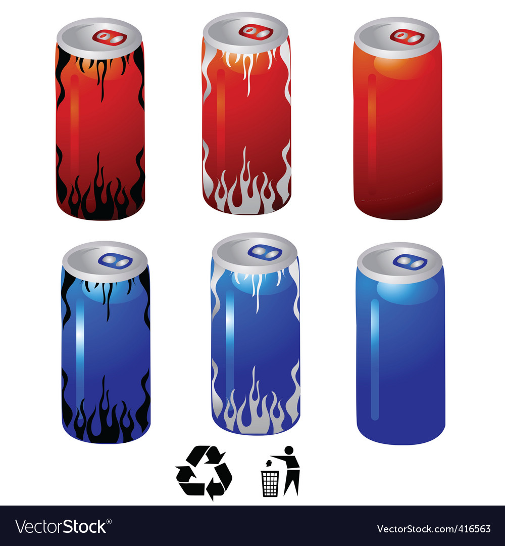 Drink cans vector | Price: 1 Credit (USD $1)