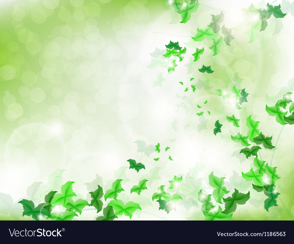 Environmental background with green butterflies vector | Price: 1 Credit (USD $1)
