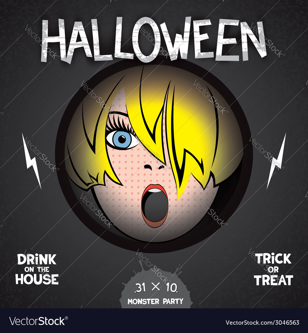 Halloween horror movie poster vector | Price: 1 Credit (USD $1)