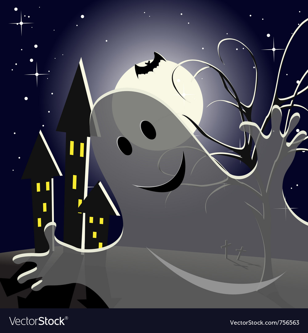 Helloween ghost vector | Price: 1 Credit (USD $1)