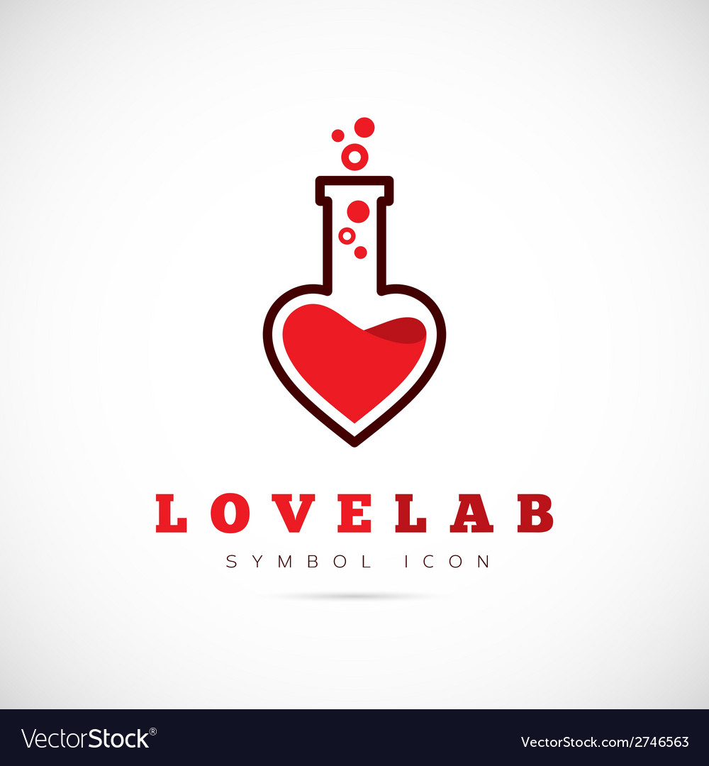 Love laboratory abstract concept symbol icon or vector | Price: 1 Credit (USD $1)