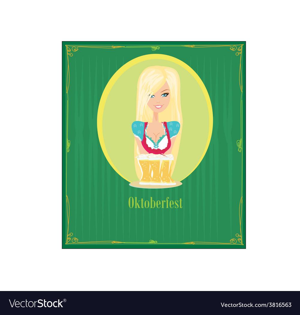 Oktoberfest waitress vector | Price: 1 Credit (USD $1)