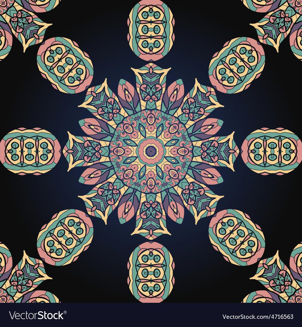 Seamless mandala background vector   Price: 1 Credit (USD $1)