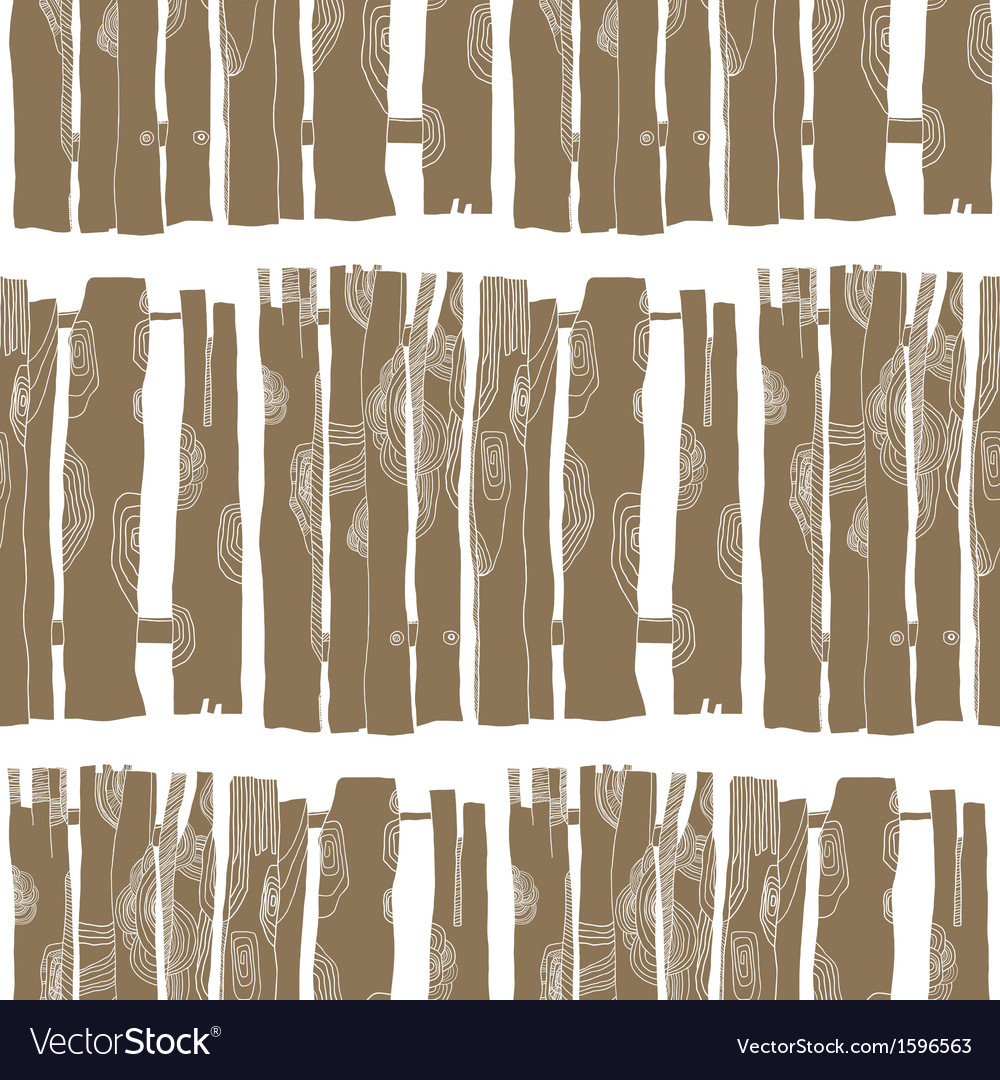 Seamless pattern of wooden fences vector | Price: 1 Credit (USD $1)