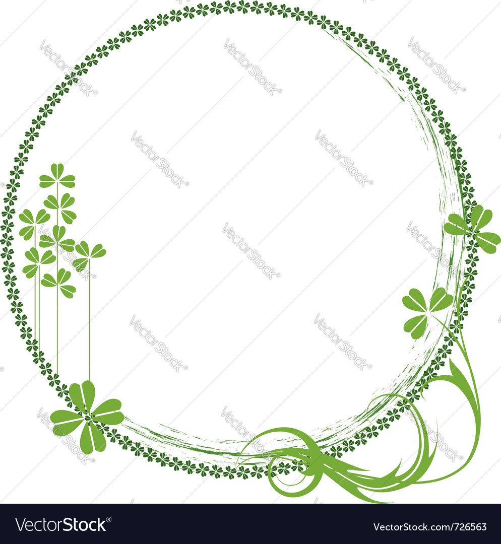 Shamrock frame vector | Price: 1 Credit (USD $1)