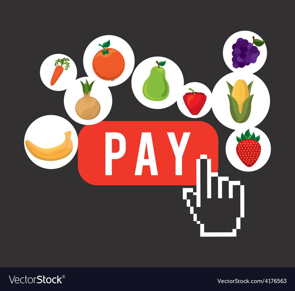 Vegetable market vector   Price: 1 Credit (USD $1)