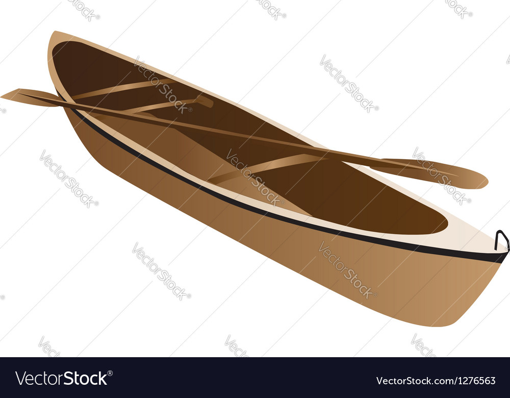 Wooden canoe vector | Price: 1 Credit (USD $1)