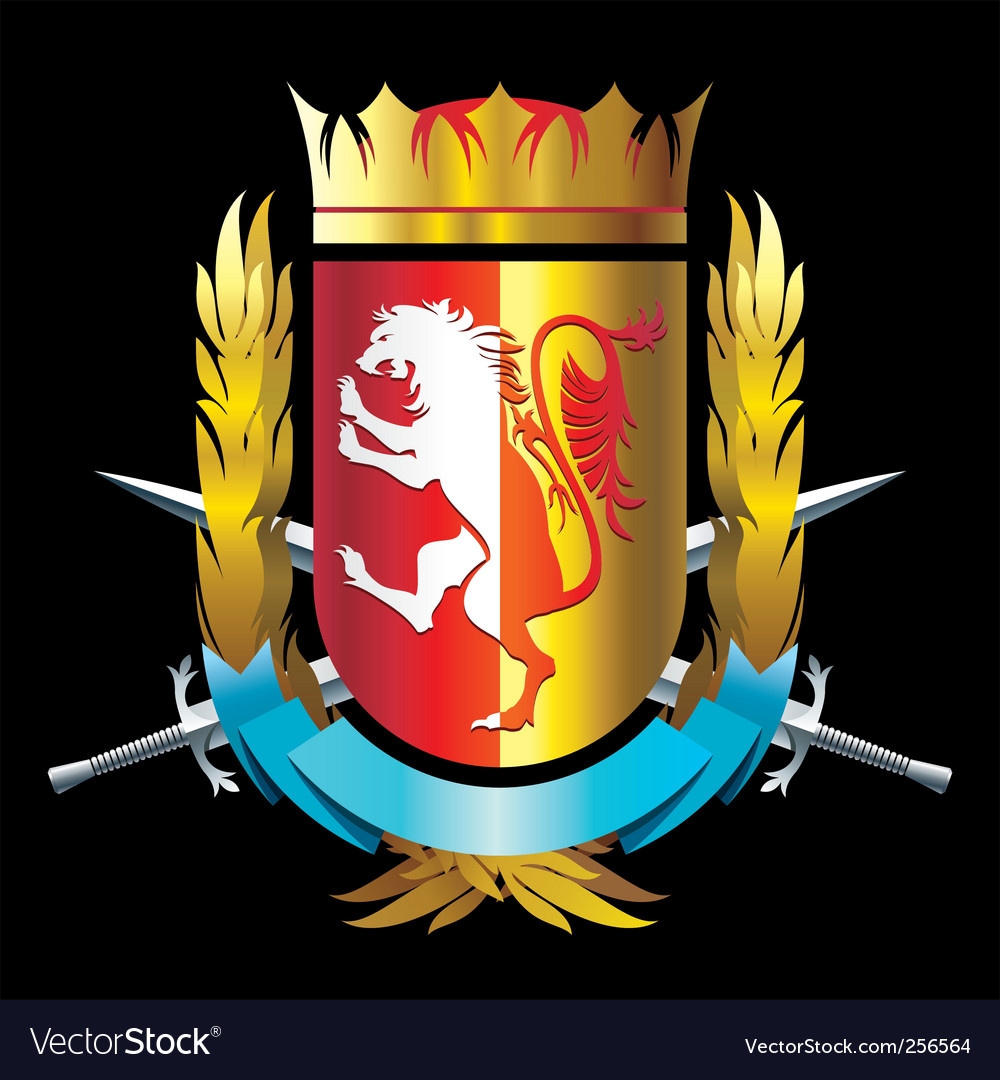Crest with lion vector | Price: 3 Credit (USD $3)